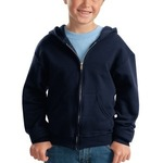 Youth NuBlend® Full Zip Hooded Sweatshirt